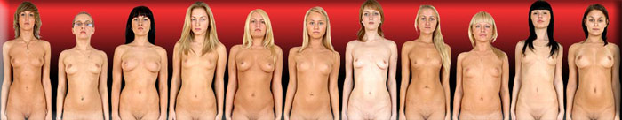 Special Examination - Lovely girls have to take their clothes off and get ready for some nude sport activity.